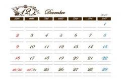 かわいいアンティークカレンダー-300x212