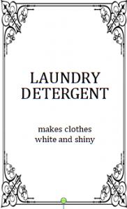モノトーンラベル,おしゃれ,英語,洗濯洗剤,デリケート,柔軟剤