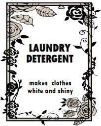 ランドリー,洗剤,ホワイトボトル,ホワイト化,無料,テンプレート,バラ,花,フリー