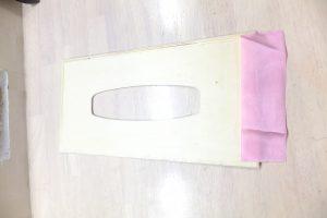 セリア木製ティッシュケースでDIY