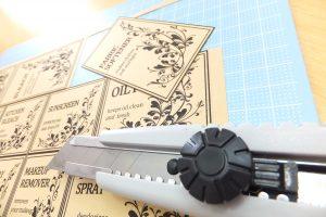 モノトーンラベル印刷クラフト紙 無料素材