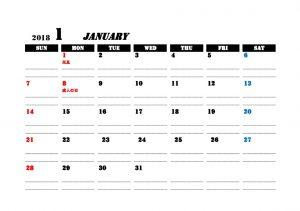 シンプル カレンダー 無料ダウンロード 素材