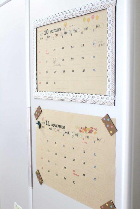 クラフト カレンダー 100均 自分で作る