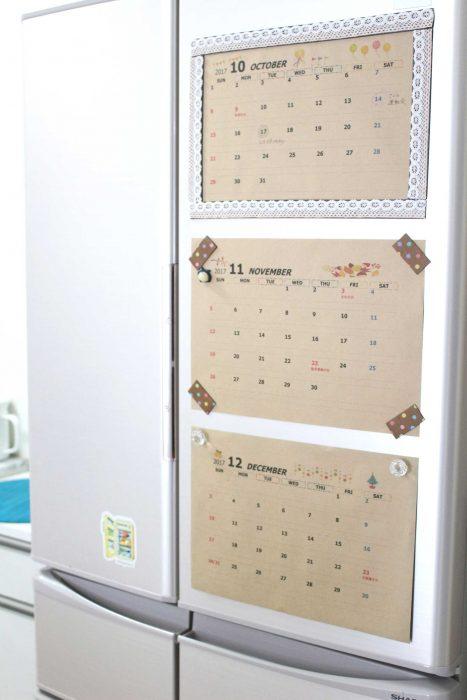 カレンダー かわいい モノトーン ラベル 無料素材
