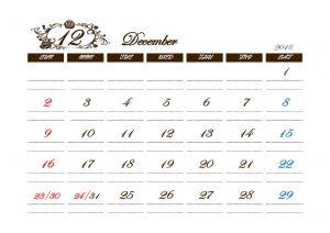無料テンプレート シンプル アンティーク カレンダー 人気