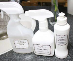 キッチン用モノトーンラベル ホワイトボトル用 無料ダウンロード
