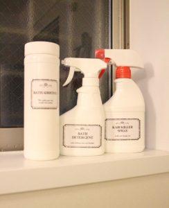 除菌スプレー,食器用洗剤,ブリーチ,ホワイトボトル,化,モノトーン,ラベル,お風呂洗剤,無料,フリー,素材,配布,