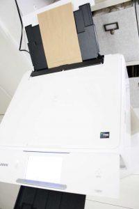 クラフトバッグ 印刷 ステンシル モノトーンラベル