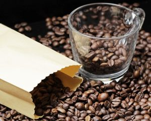 コーヒー 収納 おしゃれ シンプル クラフト モノトーンラベル