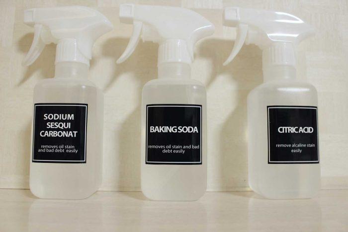 クエン酸,ホワイトボトル化,モノトーン,100均,ブラック