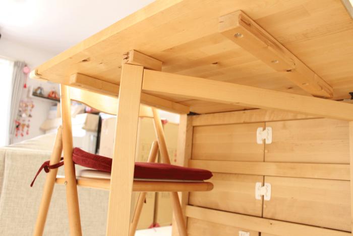 IKEA,バタフライテーブル,イケア,折りたたみ,ダイニング,開き方