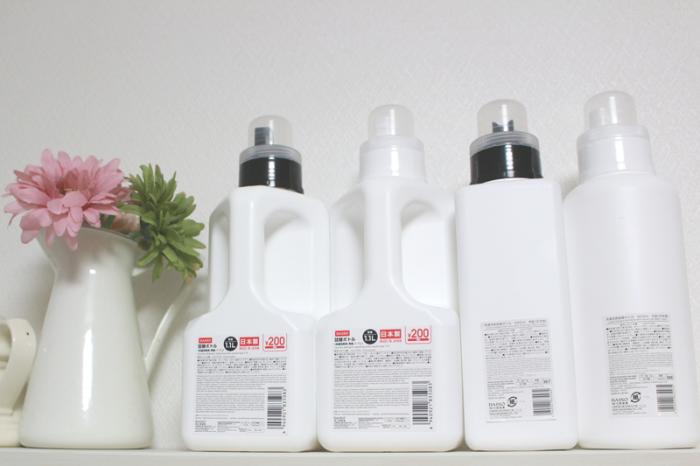 角型ボトル,ランドリー,洗濯,ホワイトボトル,詰替え