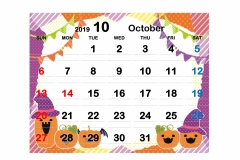2019季節イラストカレンダー2-10のコピー
