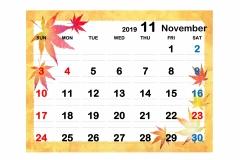 2019季節イラストカレンダー2-11のコピー