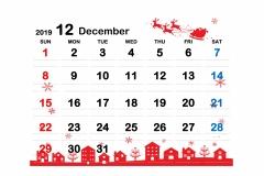 2019季節イラストカレンダー2-12のコピー