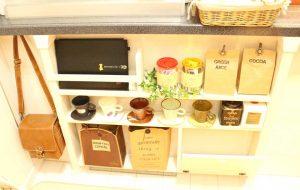 ディアウォールで作った棚,原状回復,安い,DIY,端材,カフェ風