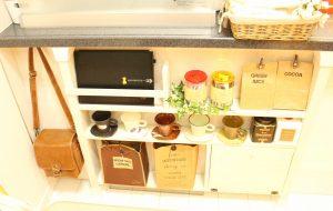 ディアウォールで作った棚,原状回復,安い,DIY,ぱたぱた扉