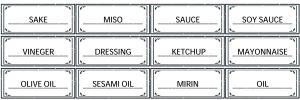 調味料,ラベル,モノトーン,インテリア,統一,無料,テンプレート,ダウンロード,フリー,素材